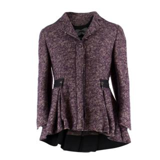 Alexander McQueen Purple Tweed Jacket