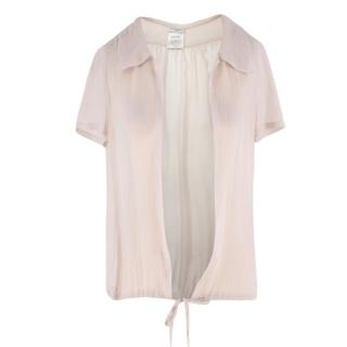 Chanel Sheer Silk Open Blouse
