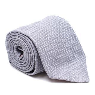 Thomas Pink Grey Silk Embroidered Tie