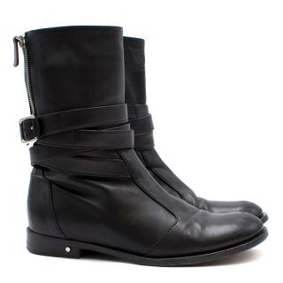 Laurence Dacade Black Leather Biker Boots