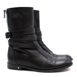 Laurence Dacade Black Leather Biker Boots