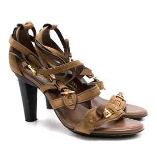 Tod's Tan Strappy Sandals