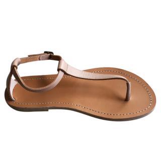 Celine T-Strap Flat Sandals