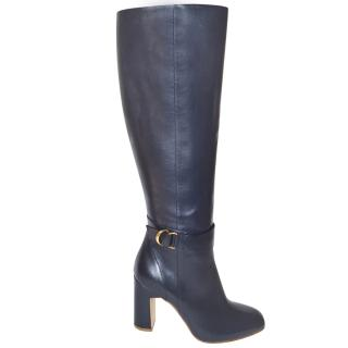 Rupert Sanderson Moroccan Blue Leather Knee Boots
