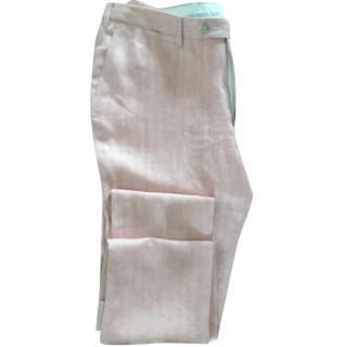 Trussardi men's linen trousers