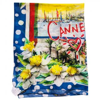 Dolce & Gabbana Cannes cotton scarf