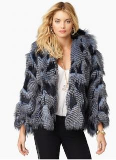 Juicy Couture Lapis Fur Jacket/Wrap NEW