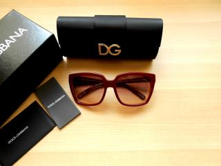 New Dolce & Gabbana Red Square Oversized Sunglasses