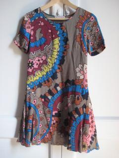 MATTHEW WILLIAMSON Print Silk Mini Dress