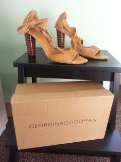Georgina Goodman Tan Leather High Heel Strappy Sandals