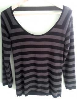 Sonia Rykiel Striped Low Back Sweater