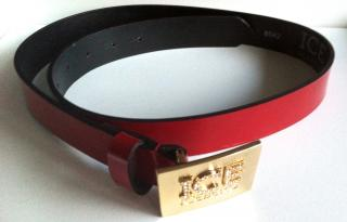 ICEBERG RED PATENT LEATHER BELT new