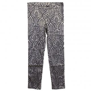 Costa Blanca Baroque Silver and Black Trousers