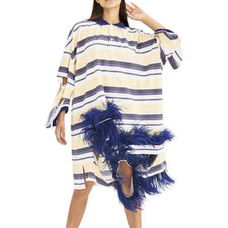 Maison Margiela Polo feather dress
