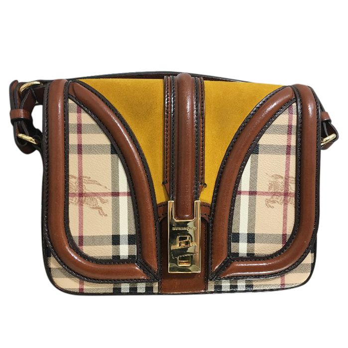caaa32dfa6d7 Burberry Leather And Suede Shoulder Bag