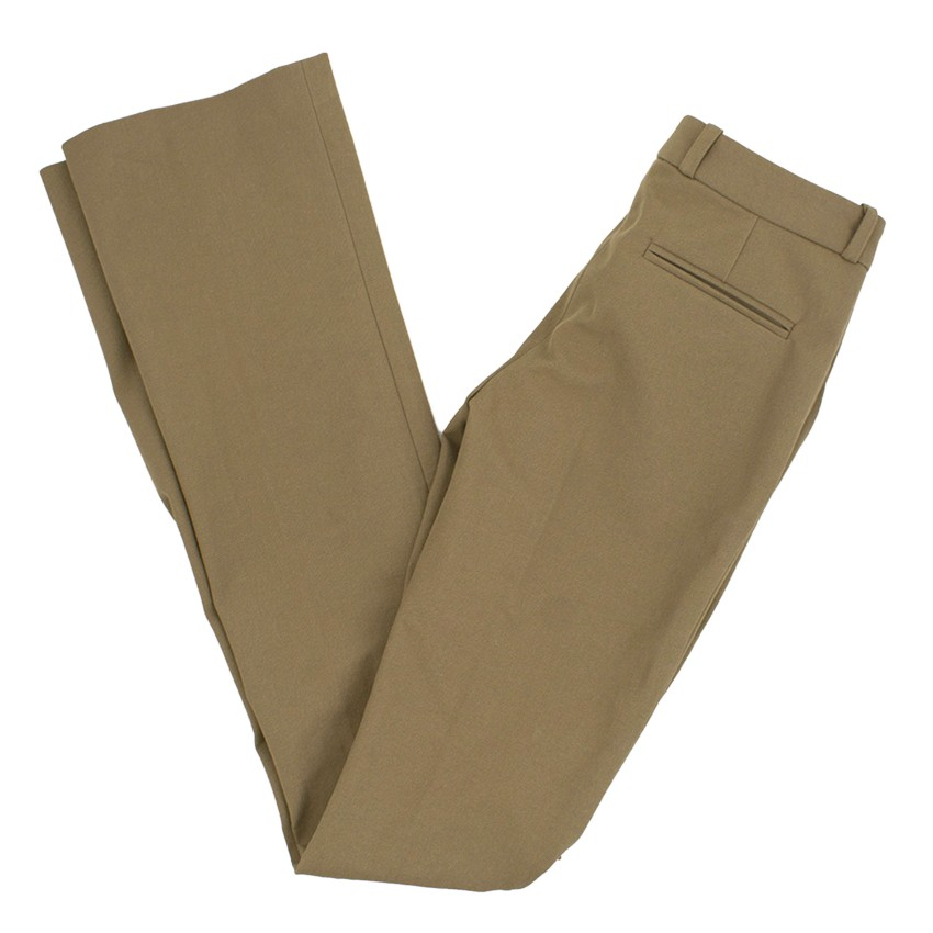 Joseph Khaki Wide Leg Trousers