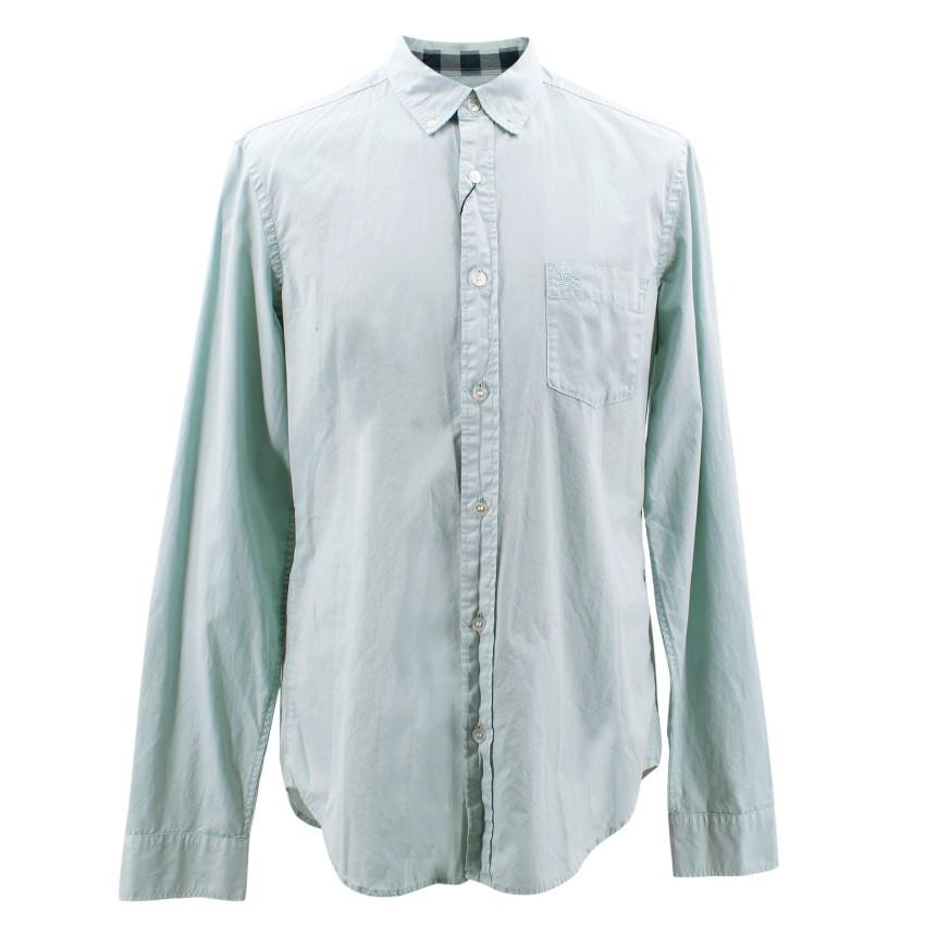 Burberry Light Blue Cotton Shirt