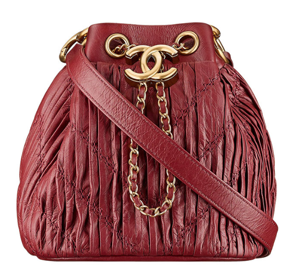 937de06a3583c Chanel Cruise 18 Coco Pleats Drawstring Bag