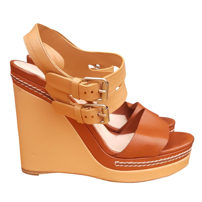 Chloe Chloe Sandals Leather Leather Wedge Chloe Wedge Leather Wedge Platform Sandals Platform iZkPXu