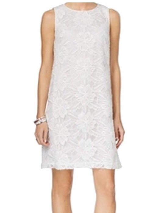 Tommy Hilfiger White Floral Lace Knit shift dress