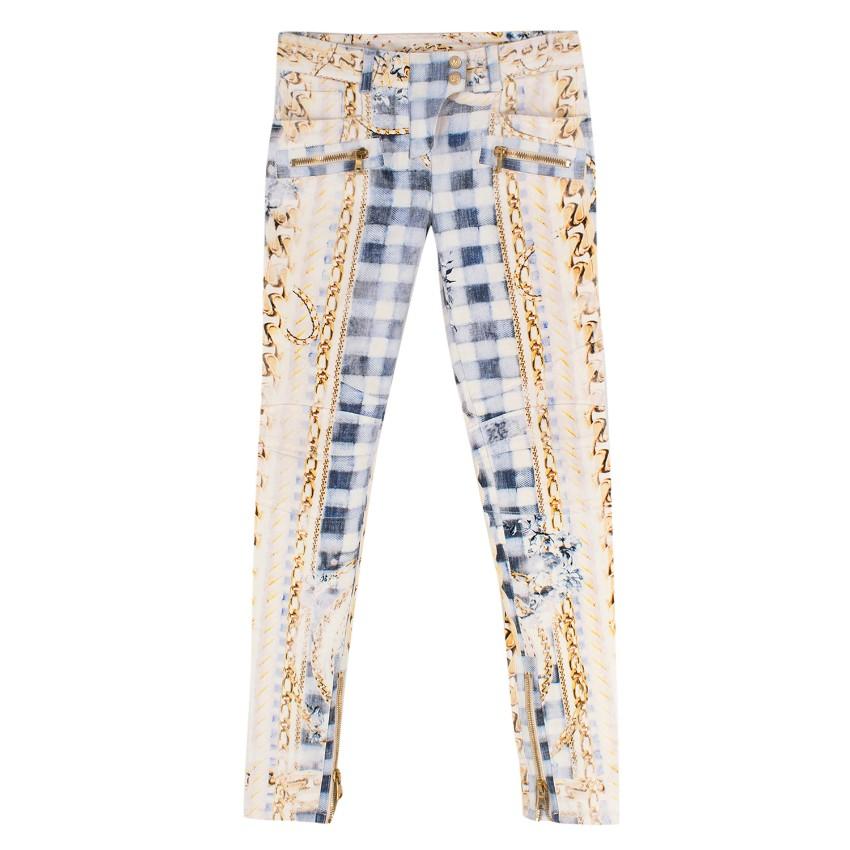 Balmain Multicoloured Patterned Jeans