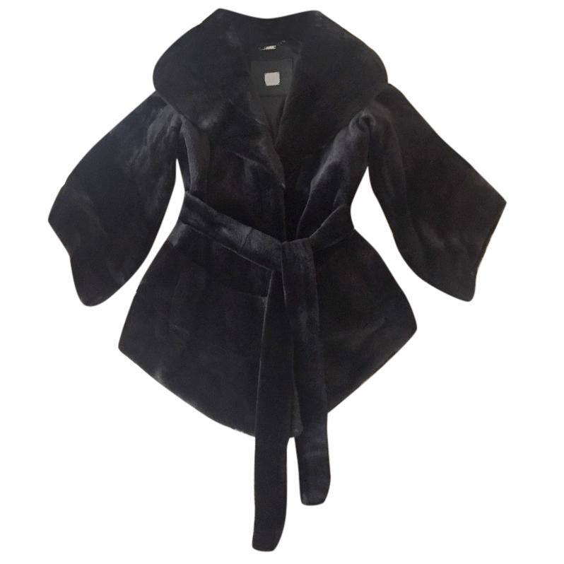 Saga Black fur mink coat