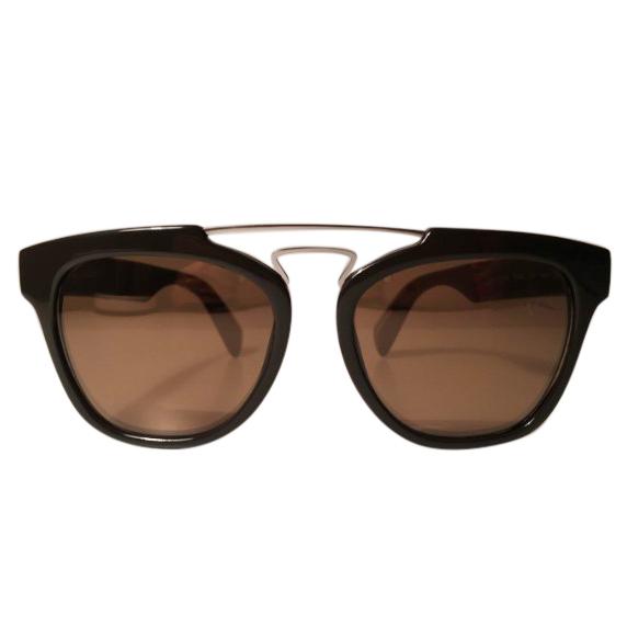 Yohji Yamamoto YY5003 Brown Aviator Sunglasses
