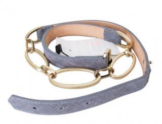 Armani Saffiano leather & chain belt