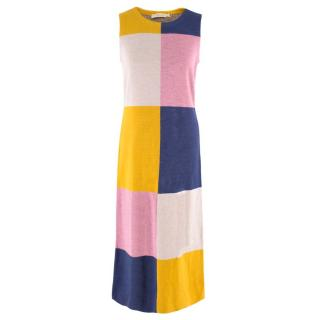 Tory Burch Sleeveless Colour Block Wool Dress