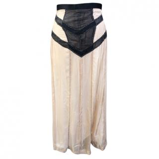 Rag and Bone silk chiffon double zip maxi skirt