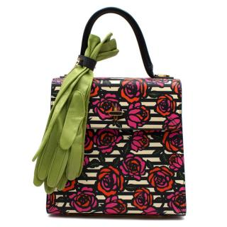 Charlotte Olympia Top Handle Floral Print Bogart Bag