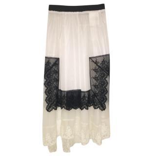 Comme des Garcons Vintage Lace Detail Layered Skirt
