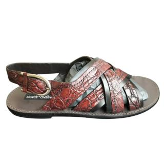 Dolce & Gabbana Men's Caiman Sandals