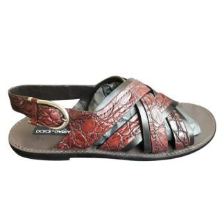 Dolce & Gabbana Men's Caiman Sandals