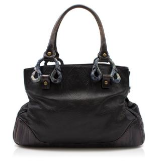 Liberty of London Black Textured Leather Bag
