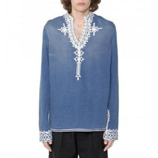 Stella McCartney Men's Blue Embroidered Top