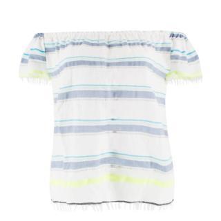 Lemlem Cotton Striped Bardot Top
