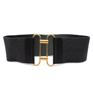 Yves Saint Laurent Grey Stretch Waist Belt