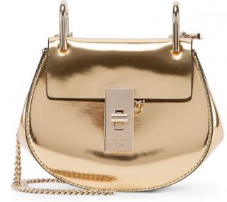 Chloe Gold Mirror Mini Drew Bag