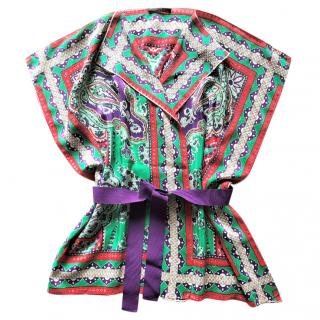 Carolina Herrera silk scarf tunic
