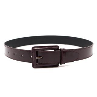 Christian Dior Brown Leather Belt