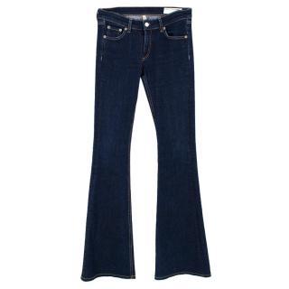 Rag & Bone Dark Blue Flared Jeans