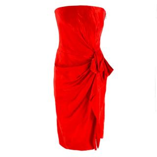 Lanvin Red Strapless Mini Dress