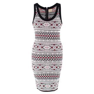 Torn By Ronny Kobo Printed Knit Mini Dress