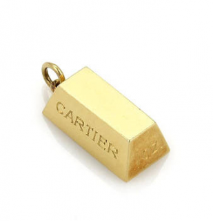 Cartier 1oz 18ct yellow gold ingot Pendant