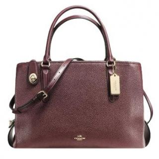 Coach Oxblood Brooklyn Carryall 34 Bag