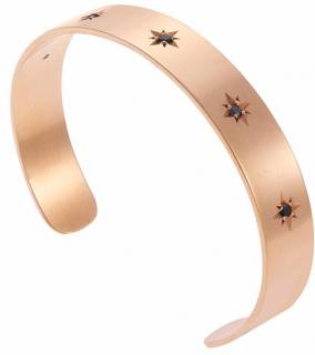 Ileana Makri Bronze Ziggy Zircon Bracelet