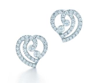 Tiffany Enchant 0.22ct Diamond Heart Earrings