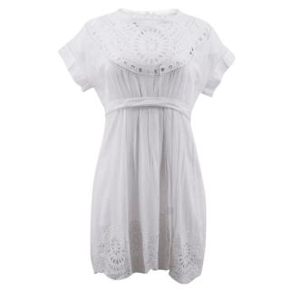 Isabel Marant Etoile White Embroidered Mini Dress