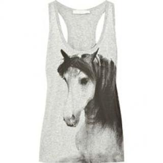 Stella McCartney Horse Print Grey Tank Top